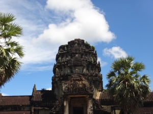 The entrance to the gatehouse of Angkor Wat