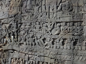 Just one example off some of the stunning carvings found throughout the temples