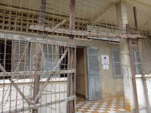 The entrance to the holding cells