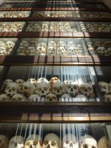 All the skulls organised over ten stories in height