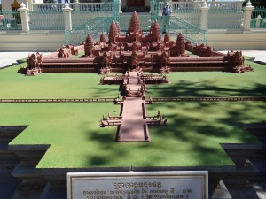As you can imagine, the Cambodian people are extremely proud of Angkor Way, and it's a symbol you see everywhere-this is a replica featured in the Grand Palace