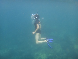 Snorkelling action shot!