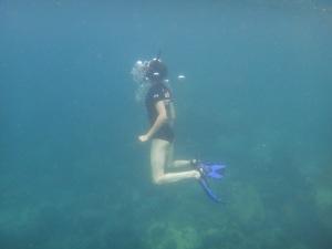Snorkelling action shot!
