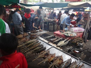 """Freeeesh fish, get you're fresh fish 'ere"" (although obviously in Cambodian!)"