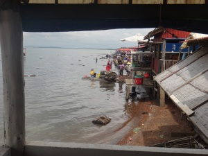 View from lunch table-you can actually watch them get the ingredients from the sea!