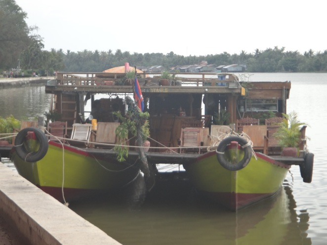 The town very much revolves around the river-and at night you can take a sunset 'cruise' on this beauty!