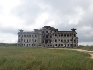 Abandoned Casino at the top of the mountain after is was attacked by the Khmer Rouge