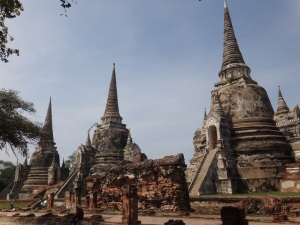 Wat Phra Si Sanphet-this was just a small part of the Royal Palace complex which was destroyed
