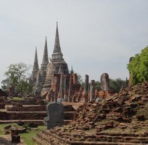 The steeps of Wat Phra Si Sanphet