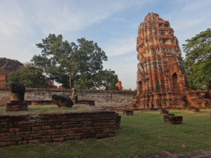 The leaning towers of Wat Mahathat
