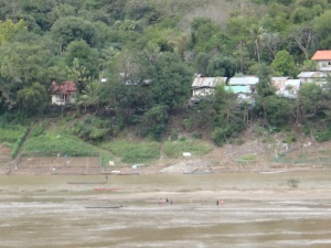 Football on the banks of the Mekong-literally!