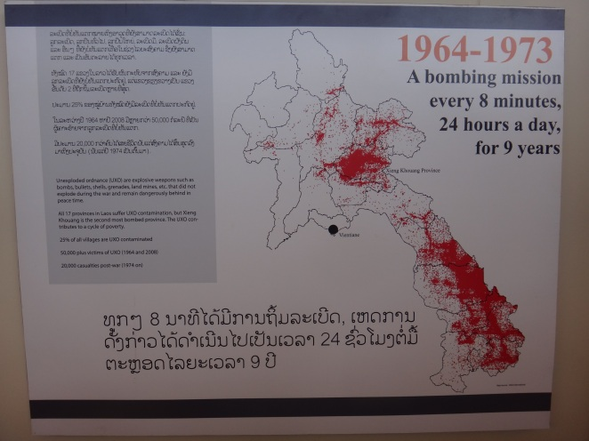 The extent of the US bombing on Laos