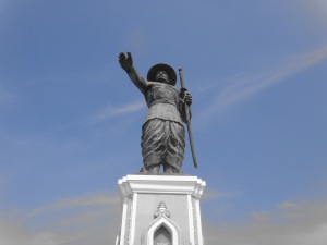 Watching over the Mekong is a statue of King Settathirath, the king who established Vientiane as the capital city in the 16th century