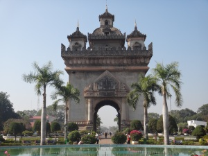 Patuxai Arch or the Arc de Triomphe of Vientiane