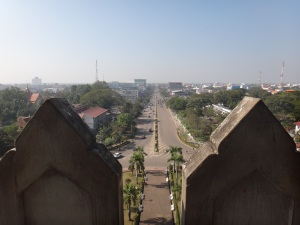 View from the top of the Patuxai Arch