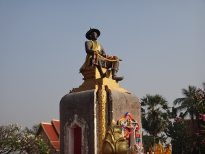King Setthathirat guarding Pha That Luang