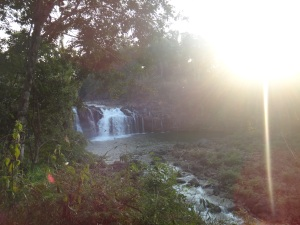 The larger falls at Tad Lo...just a taster of what was to come!