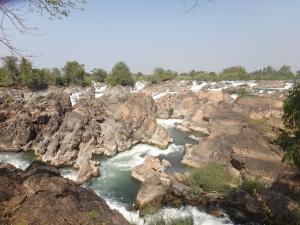 Don Khong 'waterfalls'...or boody great big rapids?!