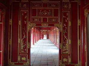 One of the many grand walkways in the Forbidden Palace