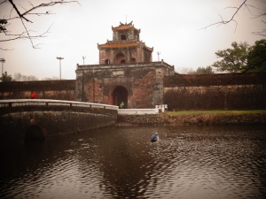 One of the Citadel gateways, and the obligatory Vietnamese fisherman on the moat!