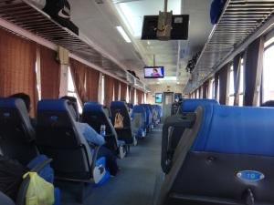 Ahhh, the luxury of Vietnamese trains!!