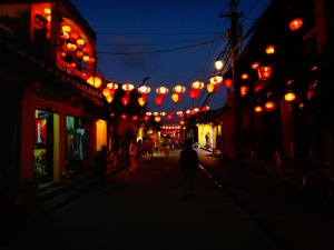 And once the darkness hits, the lanterns light the way!