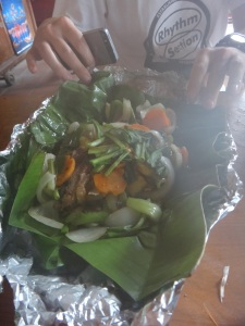 Curry in a banana leaf-oh yeah!