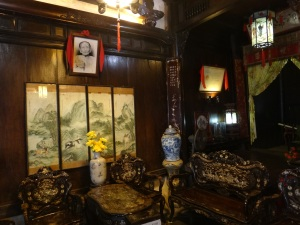 Ornate decoration in Tan Ky House, an old Chinese merchant's house