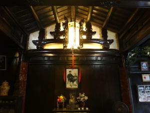 The architecture of the house is a fusion of Chinese, Japanese and Vietnamese influences