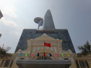 The contrasts of the old vs new Saigon