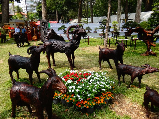 You have your individual goat statues..