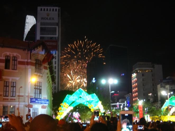 Spectacular cityscape & firework extravaganza!