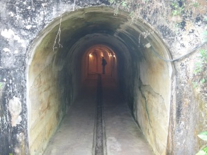Munitions tracks run throughout the fort