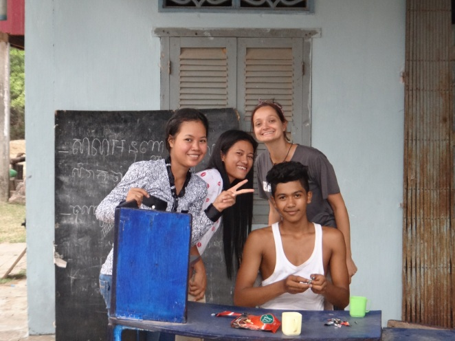 From left to right: Sopheak, Lida, Jo and Heng