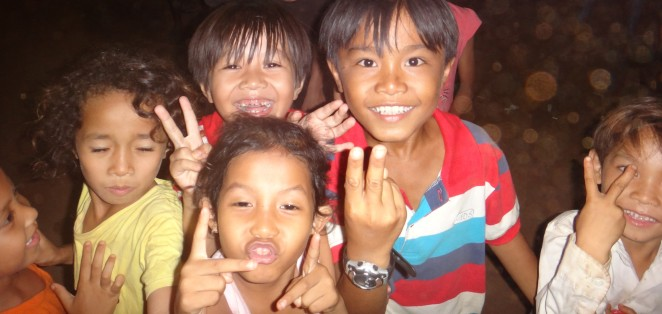 Cambodians aren't what you would call 'shy' when it comes to having their photo taken!