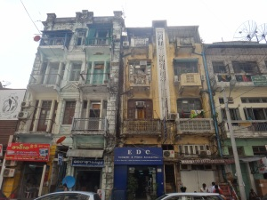 The colonial streets of Yangon