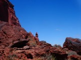 Baking hot day, some red rocks and the desert-nice!