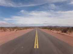Very straight roads round here....