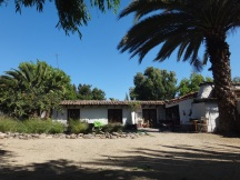The adobe built farmhouse that would be home
